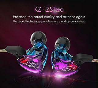 Auriculares KZ ZST ergonómicos intrauditivo In-Ear Earphones Montura Dynamic Hybrid Dual Drive Auriculares con cancelación de Ruido HiFi Auriculares Deportivos con tapón(Auriculares con micrófono)