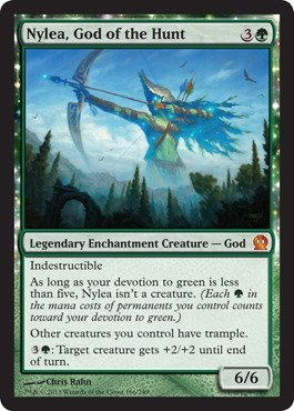 Magic The Gathering - Nylea, God of The Hunt (166/249) - Theros
