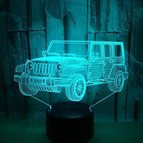 3D Nachtlicht Super Buggy Kinder Geschenke,Usb Led Nachtlicht Spielzeug, 16 Farbwechsel Mit Fernbedienung Oder Touch, Besten Geschenke Für Kinder Geburtstagsfeiertag