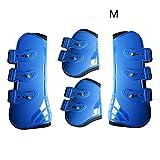 Le Saut Noir pour lentra/înement Marron WUYANSE Bottes de Jambe de Cheval Bleu Ensemble de 4 Bottes de Cheval Jambes Avant Bottes de Cheval Jambes arri/ère Bottes de Cheval Rouge l/équitation