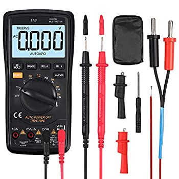 True RMS 6000 Counts Auto Range Digital Multimeter with Storage Case Large Backlight LCD Max/Min Data Hold