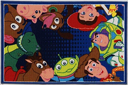 Disney ABC Tappeti Tapis Toy Story 80 x 120 cm Bleu/Multicolore