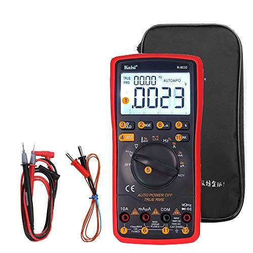 HELEISH Osciloscopio digital Multímetro LED Pantalla LCD Inteligente 20000 Cuenta Conjunto de herramientas Herramientas de accesorios