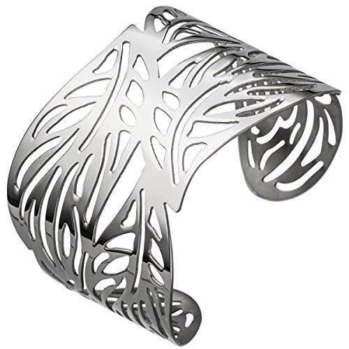 JOBO Armspange / offener Armreif aus Edelstahl Armband breit