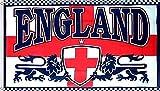 normani Fahne mit Messingösen 90 x 150, 150 x 250 oder 300 x 500 cm wählbar Farbe England mit Wappen Größe 150 x 250