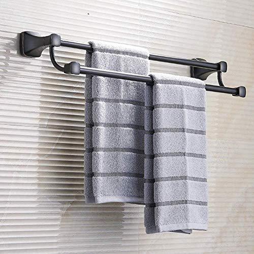 PULLEY Toallero de baño con barra de toalla de 24 pulgadas organizador de almacenamiento de baño estante de montaje en pared toallero titular