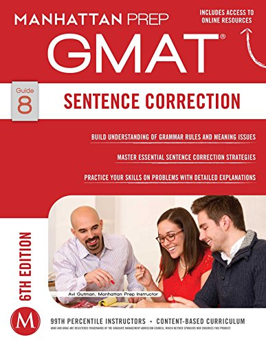 GMAT Sentence Correction (Manhattan Prep GMAT Strategy Guides Book 8) (English Edition)