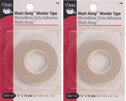 Dritz 406 1/4-Inch by 10-Yard Wash Away Wonder Tape (2 Pack)