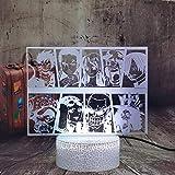 Una pieza equipo noche luz anime mono D Luffy figura Sanji Zoro Nami niños luz de noche led color cambiante atmósfera lampara