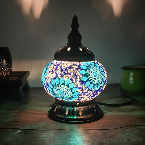 Lámpara para niños al lado de la cama Lámpara de mosaico Bar...