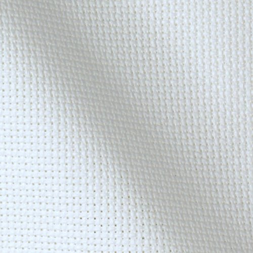 "14 Count Aida Cloth - White 60"" Wide by The Yard - Cross Stitch Fabric"