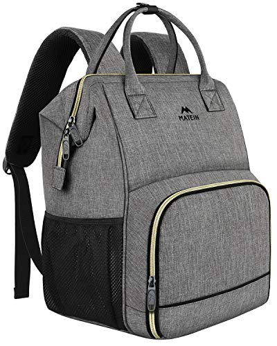 Lunch Backpack, Insulated Cooler Backpack Lunch Box Laptop Backpack with USB Port for Women Men,Water Resistant Leak-proof Lunch Bag Tote for School Work Hiking Beach Picnic Trip Fits 15.6 Inch Laptop