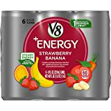 V8 +Energy, Healthy Energy Drink, Natural Energy from Tea, Strawberry Banana, 8 Fl Oz Can (6 Count (Pack of 4), Total of 24)