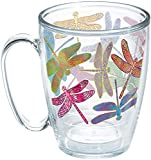 Tervis Dragonfly Mandala Insulated Tumbler with Wrap, 16oz Mug, Clear