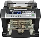 Royal Sovereign High Speed Bill Counter With UV, MG, IR Counterfeit Bill Detector & Front Loader (RBC-3100),Black and Silver