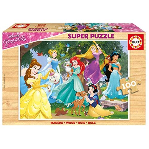 Educa-100 Disney Princess Puzzle, Multicolore, 17628