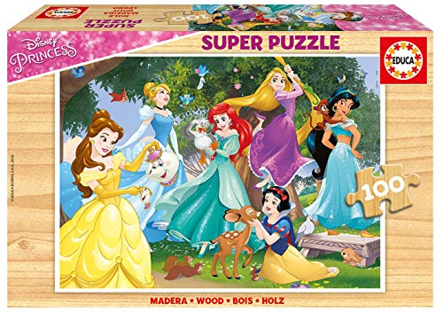Educa - Princesas Disney Puzzle, 100 Piezas, Multicolor (17628)