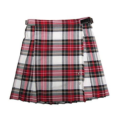 Glen Appin - Mädchen Kilts mit Falten und Tartanmuster - Dress Stewart (für Festliche Anlässe) - 3 Jahre - 43 x 27 cm (Bund x Länge)