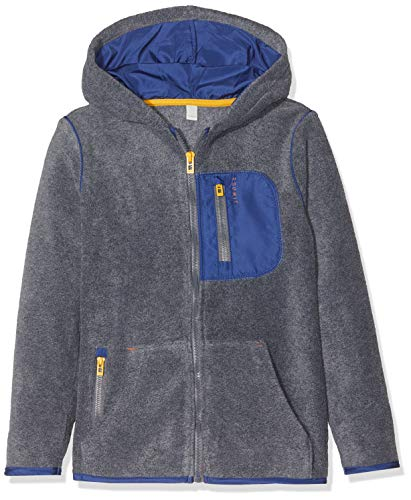 ESPRIT KIDS Jungen RP1704409 Sweatshirt Card Strickjacke, Grau (Dark Heather Grey 201), (Herstellergröße: 128+)
