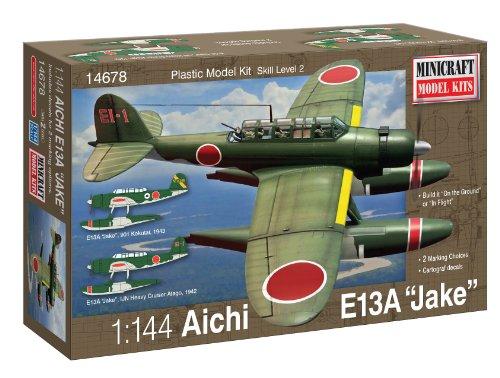 Minicraft Models Dempsey Designs Morceau modèles Echelle 1 : 144 cm Aichi IJN e13 a Jake hydravion à flotteurs modèle Kit