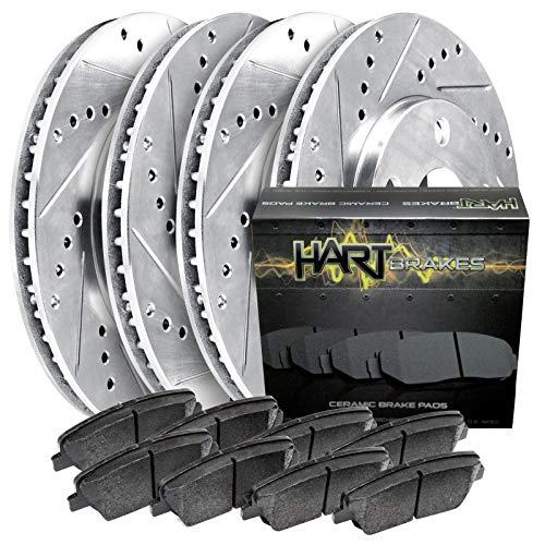 Hart Brakes Front/Rear Drill Slot Rotors Kit + Ceramic Brake pads PHCC.66083.02