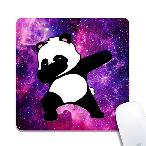 """Galdas Mouse Pad Cute Mouse Pad Mat for Laptop Non-Slip Rubber Stitched Edges Working Gaming Mouse Pads for Kids/Boys/Girls/Adults - 7.87""""×0.12"""" (Panda)"""