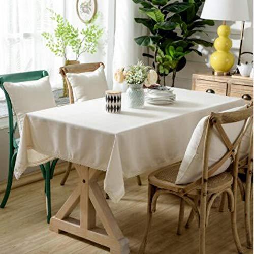 BECCYYLY Mantel de algodón de color sólido para mesa de picnic de hotel, cubierta de mesa de comedor, decoración de mesa de té