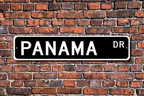 LLAAXXOZ Placa de metal para regalo de Panamá, cartel de re