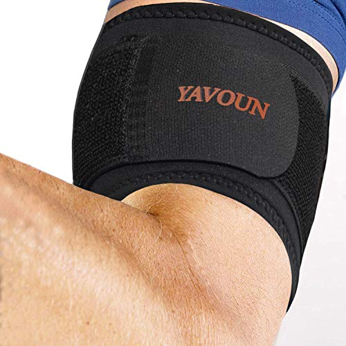 "Tendonitis - Bicep & Tricep Compression Sleeve/Wrap - Tricep Tendonitis, Bicep Tendonitis - Pain Relief for Bicep and Tricep Muscle Strains, Compression Arm Suppor (Black, 8.3"" - 13.7"")"