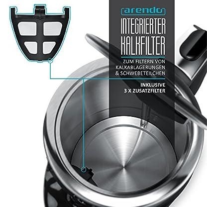 Arendo-Turbo-Edelstahl-Wasserkocher-mit-Temperatureinstellung-3000-Watt-Digitale-Basisstation-4-whlbare-Temperaturstufen-inkl-Warmhaltefunktion-3000W-Schnellkoch-Teekocher