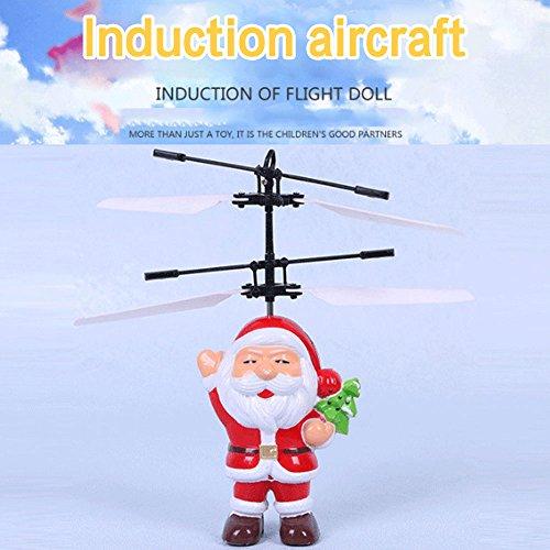 OYJJ® - Lámpara de inducción con Sensor Remoto de suspensión para Aviones, Santa Claus Series Novedad Juguete Suspensión Modelo Niños