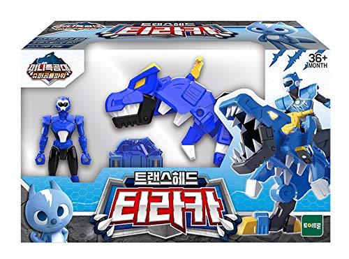 MINI FORCE Miniforce Trans Head Tyraka Super Dinosaur Tyrannosaurus Power Action Figure Toy