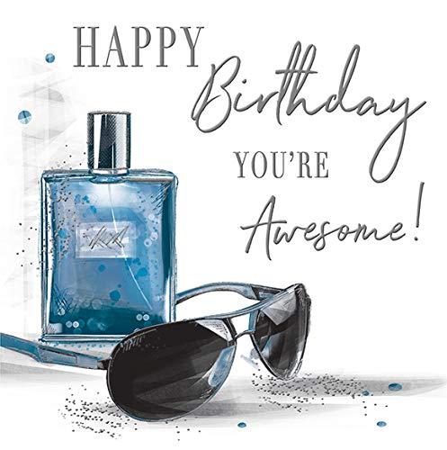 Luxe mooie hedendaagse Aftershave zonnebril verjaardagskaart - 160 mm sq - Koko Designs