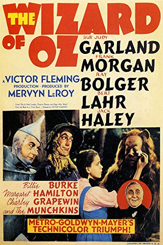 American Gift Services - Wizard of Oz Vintage Judy Garland Movie Poster 1-18x24