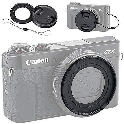 JJC フィルター アダプター + レンズキャップ キット Canon PowerShot G7X Mark III II G7XM3 G7XM2 G7X G5X 適用