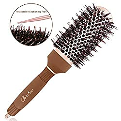 Blow Dry Round Vented Hair Brush with Boar Bristles
