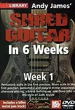Hal Leonard 393158 Andy James' Shred Guitar in 6 Weeks, Week