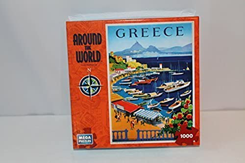 Around the World Series 1000 Piece Jigsaw Puzzle Greece by Mega Puzzles