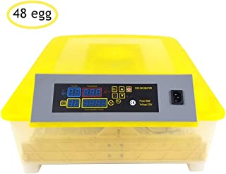 48/56/96/112 Egg Incubator with Automatic Egg Turning and Temperature, Humidity Control for Hatching Chicken Duck Goose Quail Fertilized Eggs,LCD Display Controller,80W/160W (48)