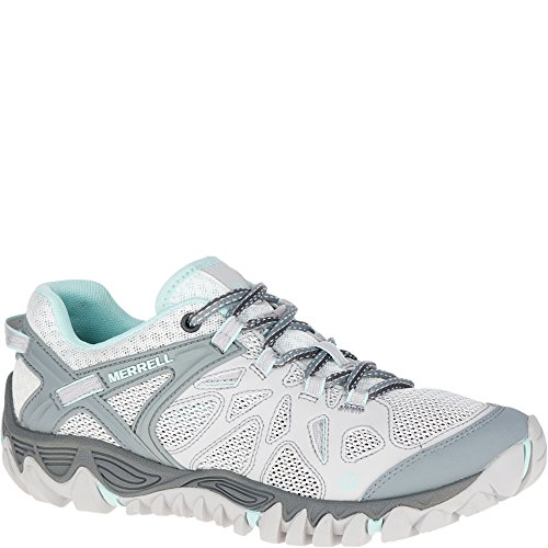 Merrell Women's All Out Blaze Aero Sport Hiking Water Shoe, Grey/Purple, 5 M US