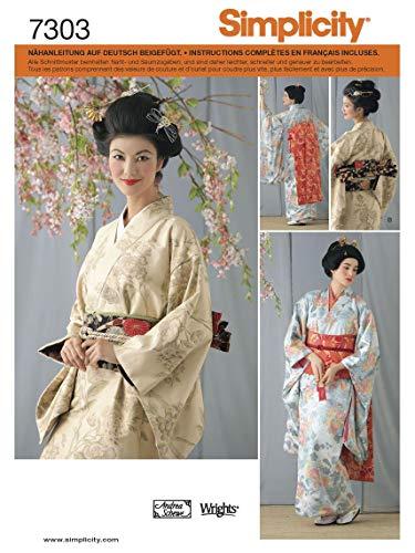Simplicity Schnittmuster 7303 RR Damen Kostüm Kimono Gr. 40-46