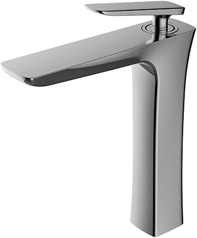 LHbox Basin Mixer Tap Bathroom Sink Faucet Modern chrome plated brass single hole, single basin of cold water bathroom basin bathroom sink basin mixer