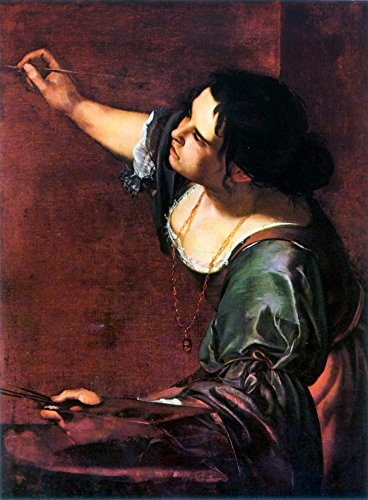 Posterazzi Poster Print Collection Artemisia Gentileschi/N(C1597-After 1651). Italian Painter. Self-Portrait Oil on Canvas, (24 x 36), Multicolored
