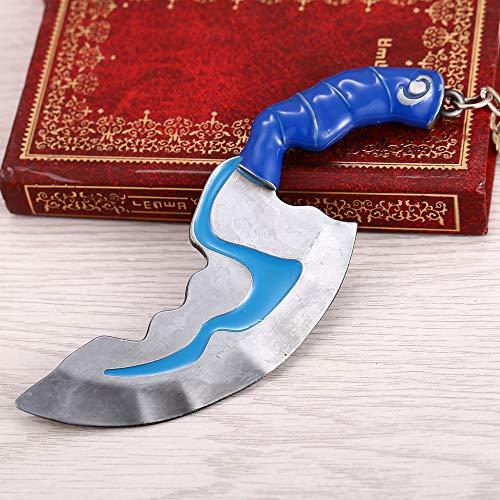 YUNMENG Schlüsselbund Schmuck Dota 2 Mini Flash Dolch Springmesser Schlüsselbund Waffe Modell Anhänger