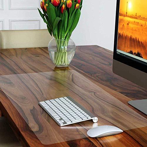 PVC-Schreibunterlage, rutschfeste Schreibunterlage, 90 x 60 cm, wasserdichte Esstischmatte, abwischbare Schreibtischunterlage für den Heimtisch, transparente Laptop-Matte, Büro-Mauspad