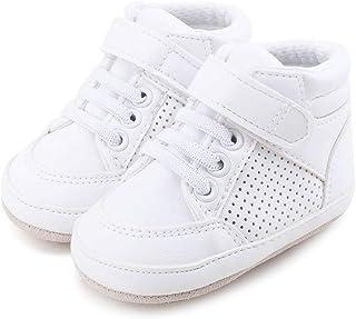 9fcc7edc3d51c DELEBAO Chaussons Bébé Cuir Souple Chaussure Cuir Bébé Chaussures Premiers  Pas Chaussure de Marche Bébé Bottine