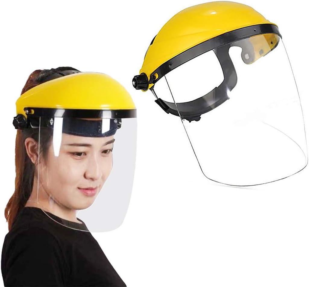 JUSTDOLIFE Tapa de protección facial Tapa protectora antigotas Protección de visera facial Protección facial completa