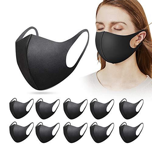 15 Stück mund und nasenschutz mundschutz bequem waschbar, wiederverwendbar, verstellbar, Schwarz, Erwachsene, Kinder, Damen, Herren