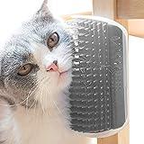 PET SPPTIES Masaje Peine Gatos Pet Juguetes para Pared Esquina Cepillo Elevado con Catnip PS021 (Grey)