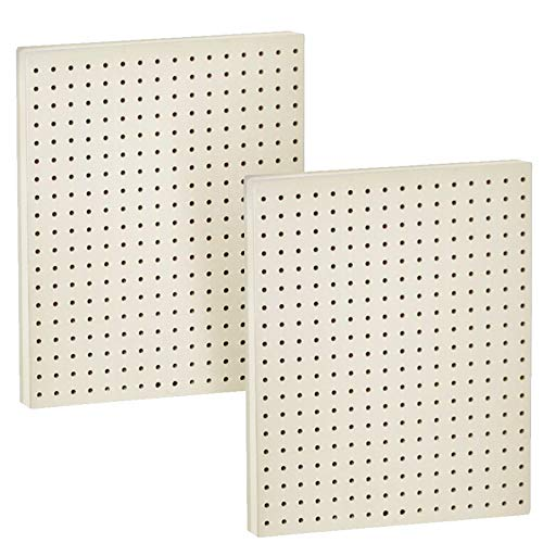 Azar Displays 771620-WHT Pegboard 1-Sided Wall Panel, White Solid Color, 2-Pack
